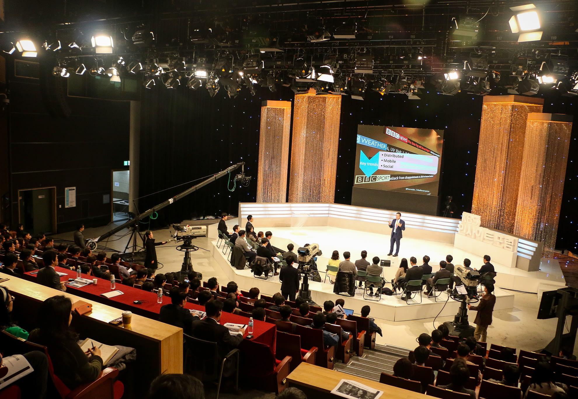 Alfred Hermida at KBS in South Korea